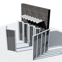 3D parametric folding panel