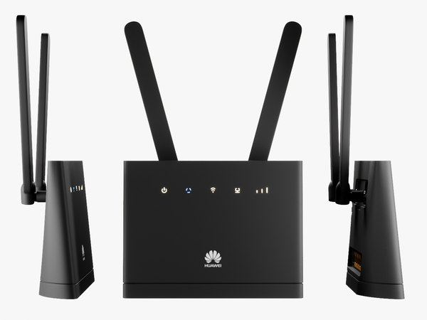 Roteador Wifi Com Antena Huawei B315 Modelo 3d Turbosquid 1203780