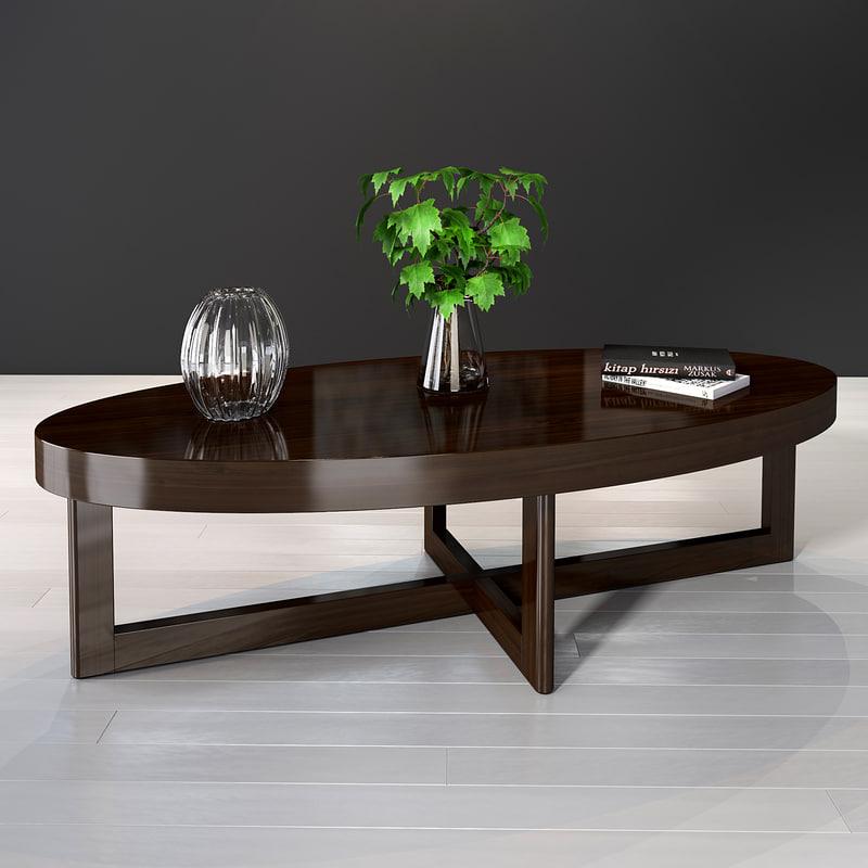 3D selva criss cross coffe table model