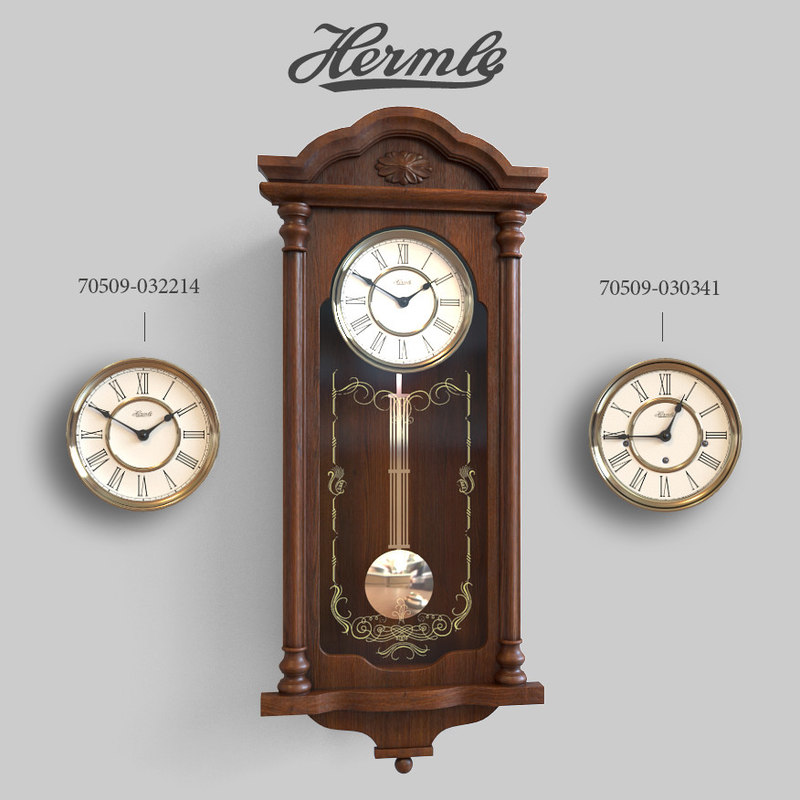 3D hermle wall clock model