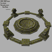 temple stone 3D