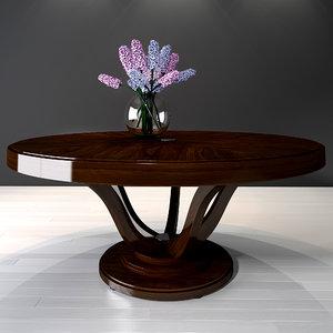 selva dining table victoria 3D model