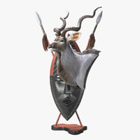 kudu trophy shield 3D