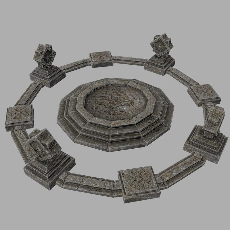 temple stone 3D model