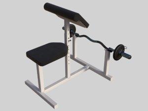 3D model scott s bench