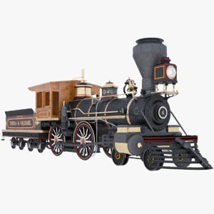 3D locomotive steam train model