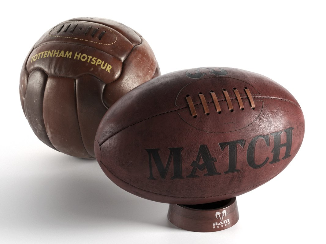 football rugby ball 3D model