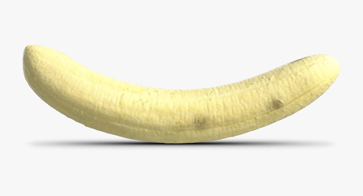 3D model banana skin