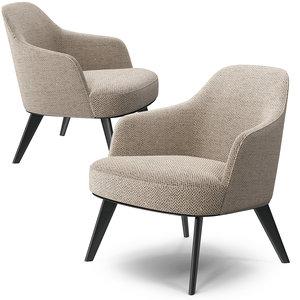 poliform jane armchair metal 3D model
