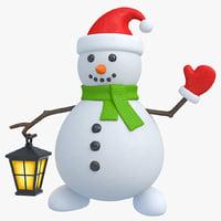 snowman snow 3D model