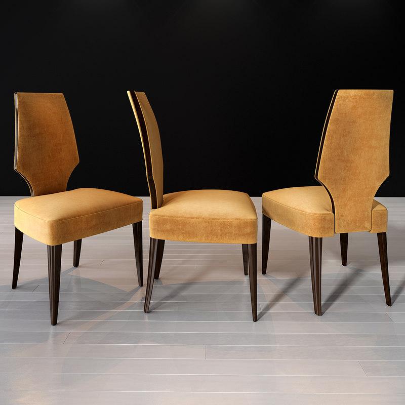 3D selva vendome chair art model