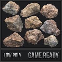 3D rock pack 01 pbr