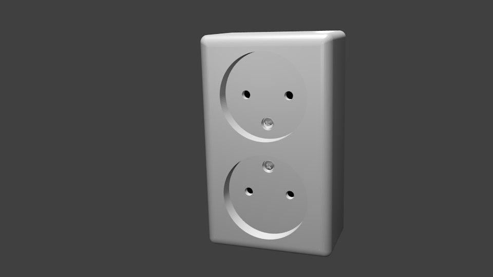 power socket 3D model
