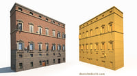 old building facade model