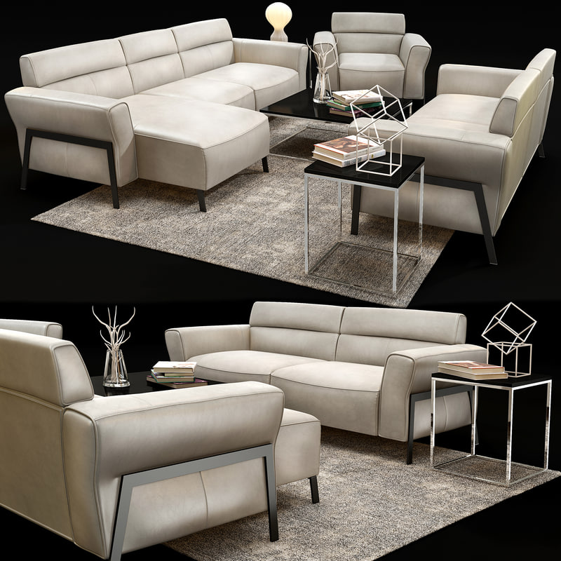 3D natuzzi gaspare c021 sofa chair