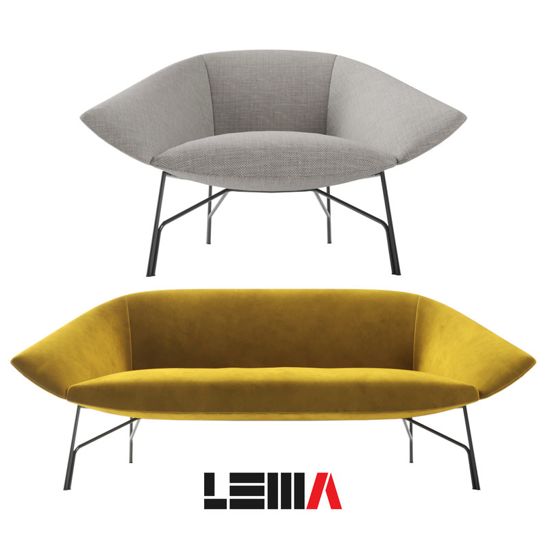 sofa chairs lennox lema 3D model