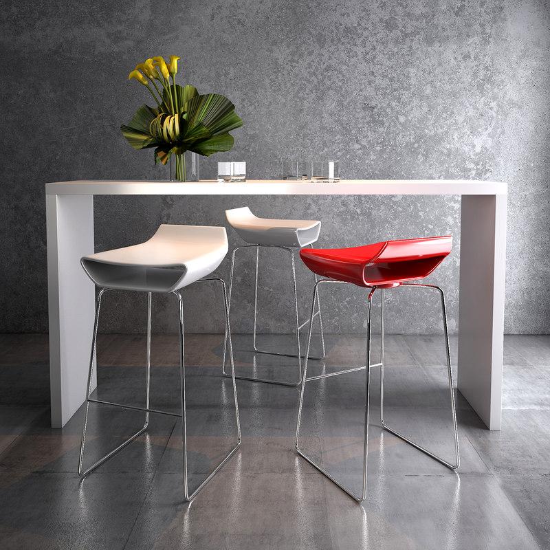 3D ciacci kreaty sgabello chair model
