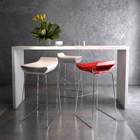 3D ciacci kreaty sgabello chair model
