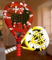 3D paddle racket