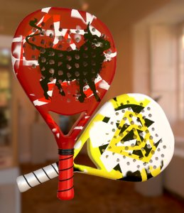 3D paddle racket
