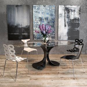 3D model ciacci kreaty chair