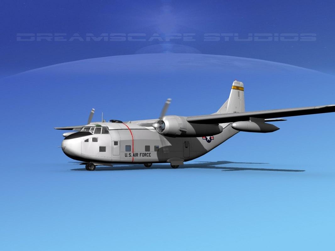aircraft military fairchild transport model
