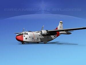 aircraft military fairchild transport 3D