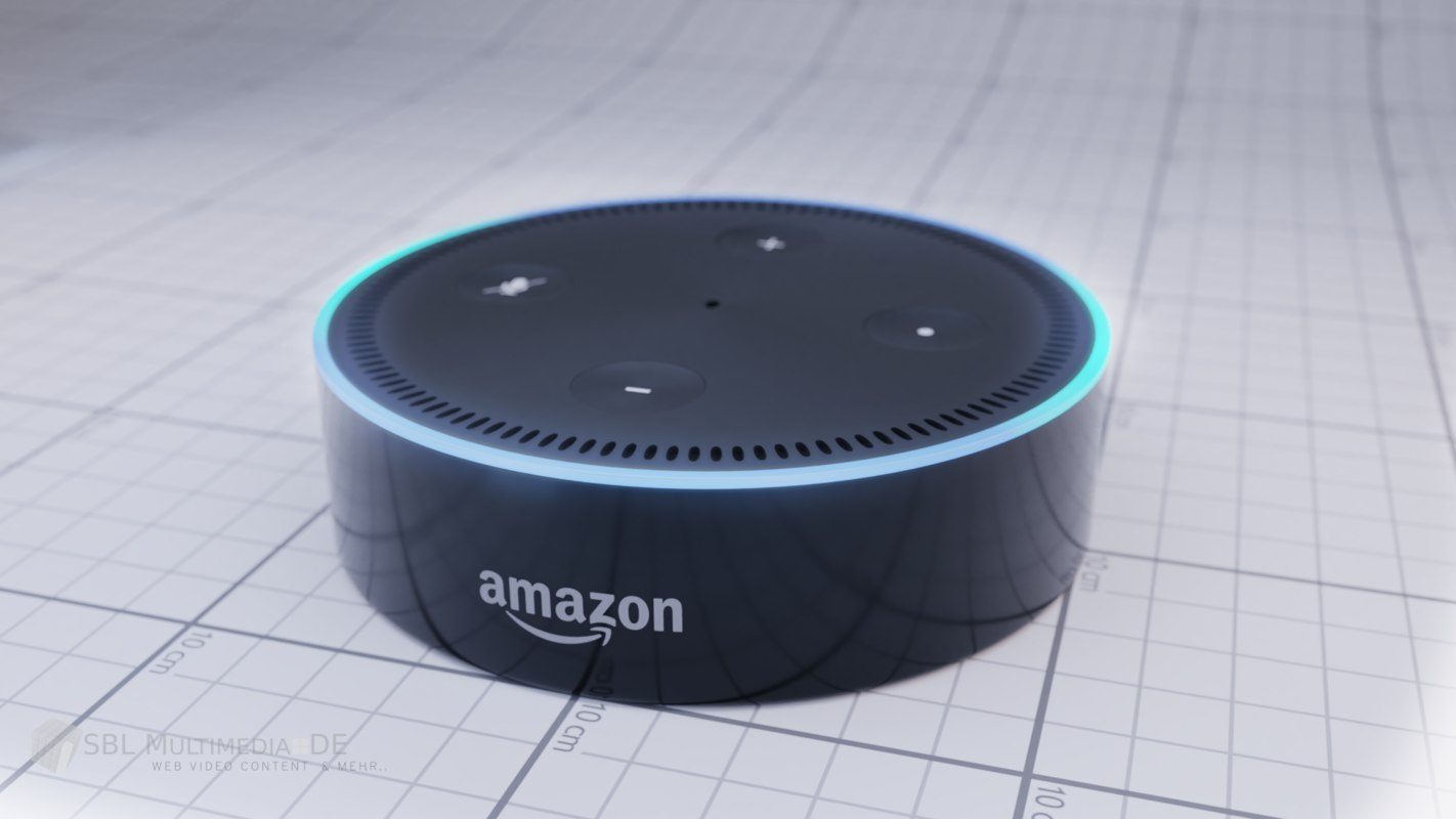 3D amazon echo dot model
