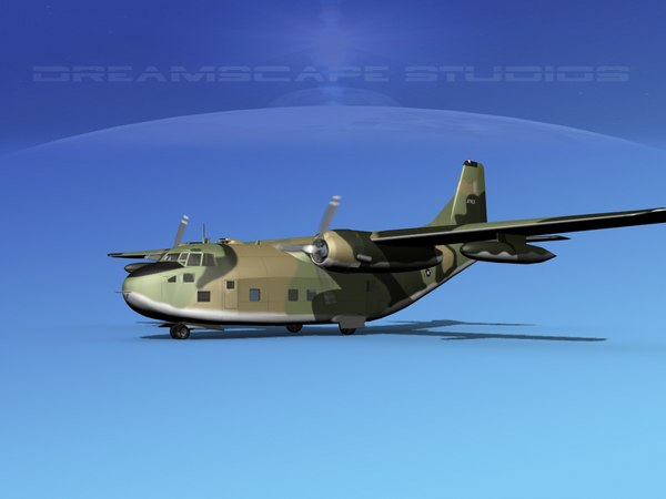 aircraft military 5 fairchild 3D model