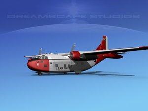 3D aircraft military fairchild transport