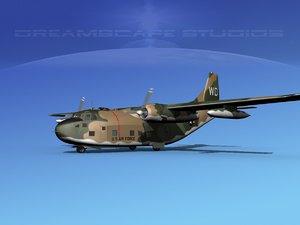 3D model aircraft military fairchild transport