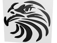 3D relief representation head eagle model