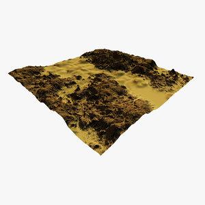 3D model terrain river