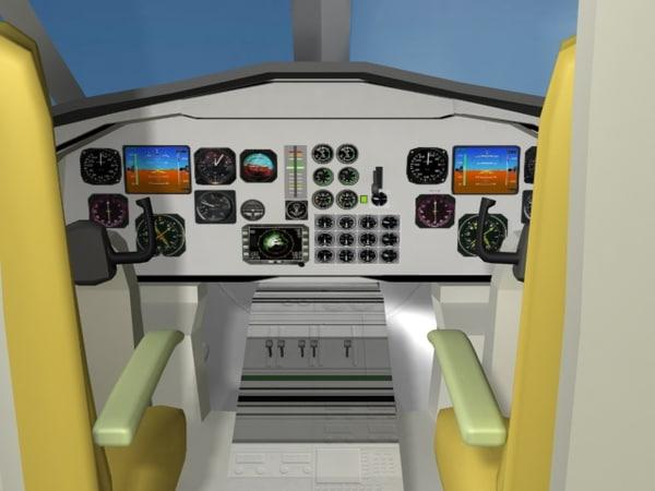 cockpit saab 2000 model