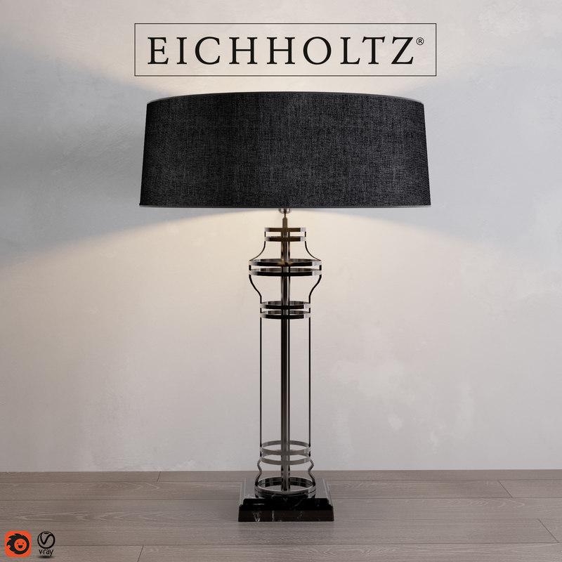 3D model table lamp newport neo