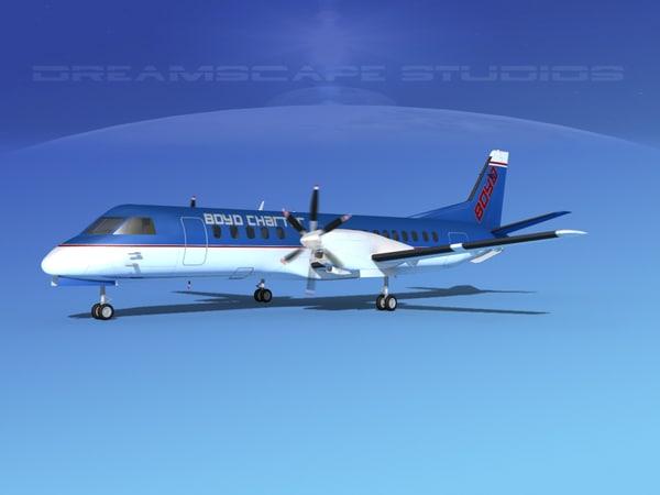 cockpit saab 2000 3D