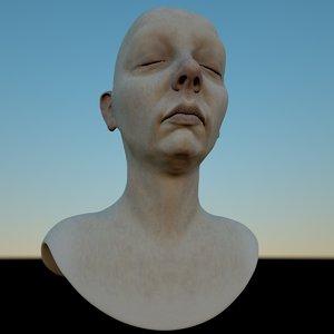 asia mia sisters female head 3D