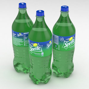 3D model sprite beverage bottle