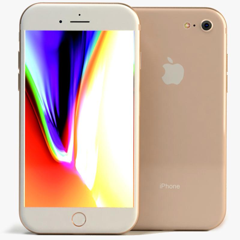 3D iphone 8 model