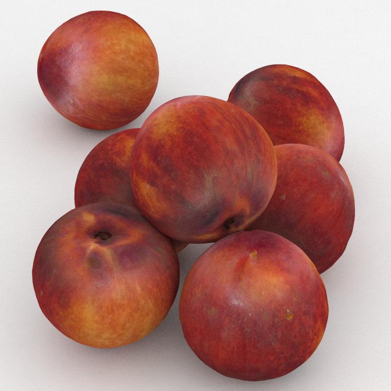 peach fruit 3D model