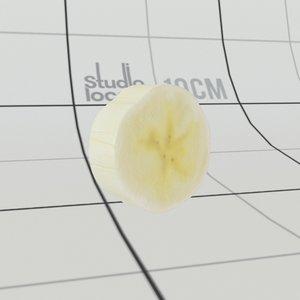 banana slice 3D model