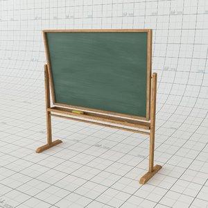 3D blackboard redshift alembic model