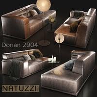 sofa natuzzi dorian 2904 3D model