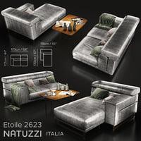 3D sofa natuzzi etoile