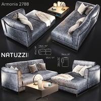 sofa natuzzi armonia2788 var 3D model