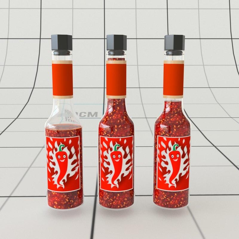 3D model chilli bottle