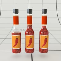 3D model chilli bottle