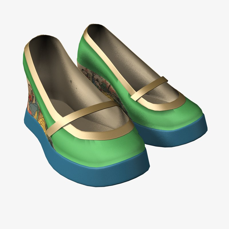 3D wedge shoes