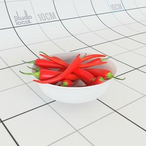 3D chilli bowl model