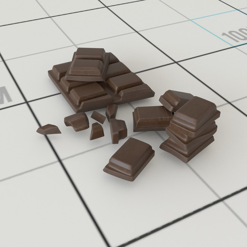 3D chocolate chunks